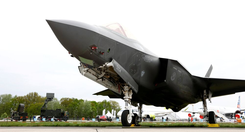 A Lockheed Martin F-35 aircraft is seen at the ILA Air Show in Berlin, Germany, April 25, 2018