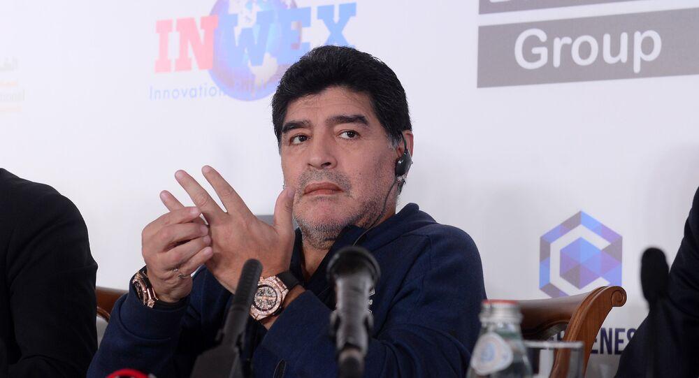 Football legend Diego Maradona