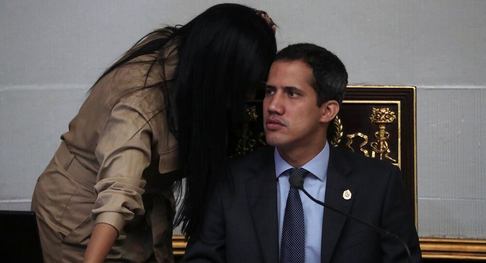 Venezuelan opposition leader Juan Guaido, who many nations have recognised as the country's rightful interim ruler, takes part in a session of the National Assembly in Caracas, Venezuela April 2, 2019