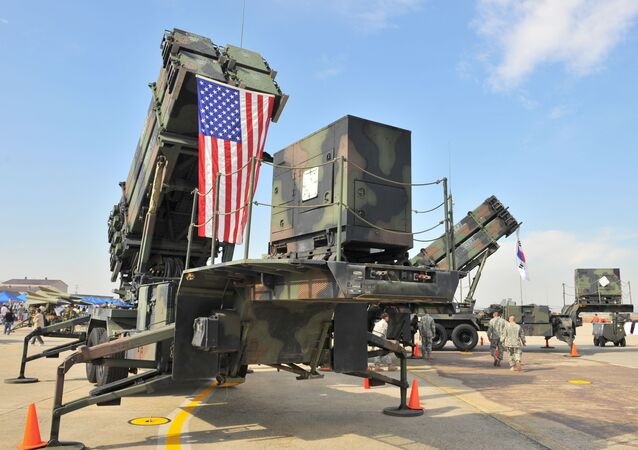 A US Army's Patriot Surface-to Air missile system is displayed during the Air Power Day at the US airbase in Osan, south of Seoul on October 12, 2008