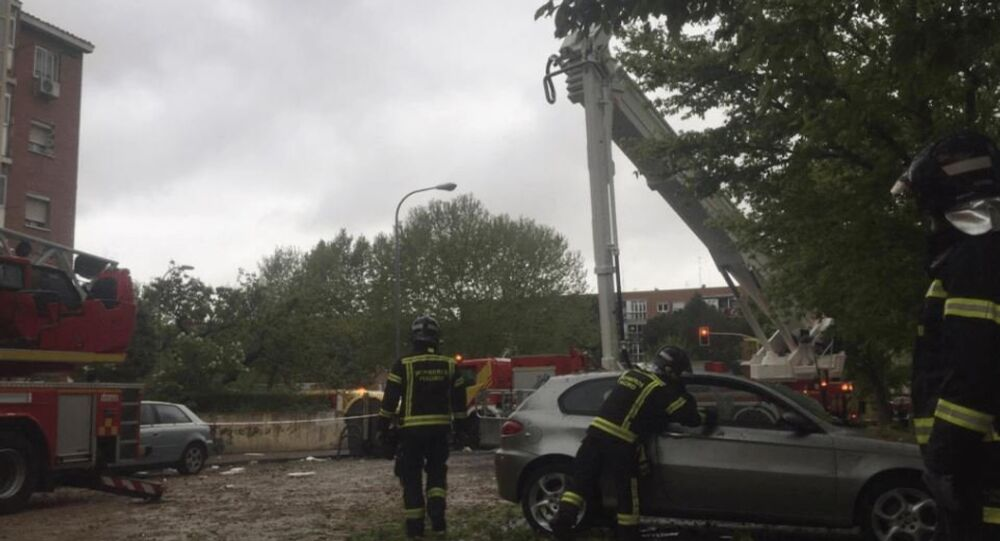 Gas Explosion Destroys Whole Storey in Madrid Building