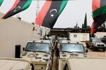 Military vehicles, which were confiscated from Libyan commander Khalifa Haftar's troops, are seen in Zawiyah, west of Tripoli, Libya April 5, 2019.