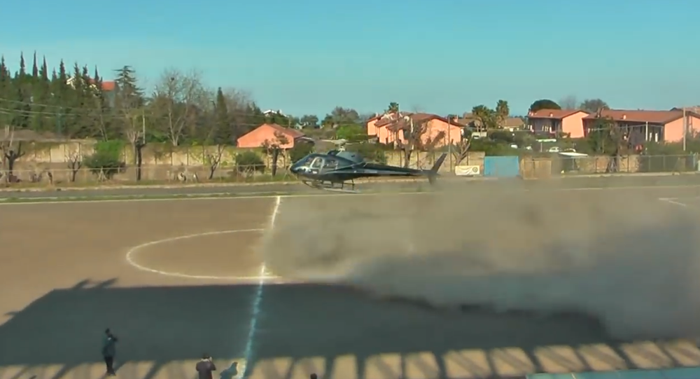Kidnapping prank with Helicopter in Sicily