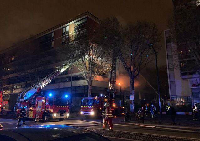 Massive BLAST rocks Paris building as firefighters struggle with monster blaze on Saturday evening 6 April