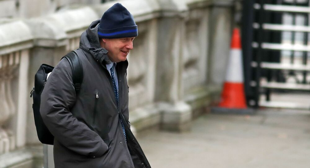 Former British Foreign Secretary, Boris Johnson walks across Downing Street in London on January 23, 2019 ahead of the weekly, Prime Minister's Questions (PMQs)