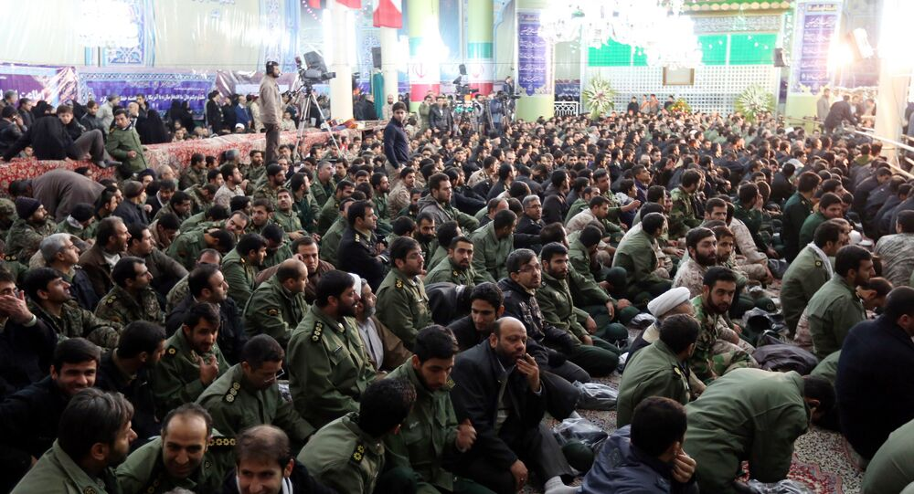 Members of Iran's elite Revolutionary Guard Corps