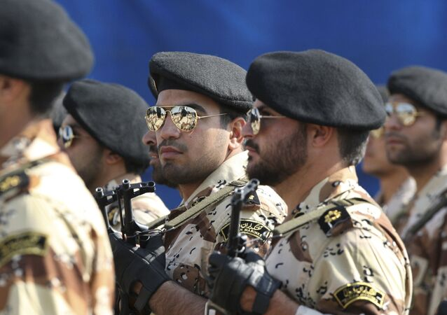 Iran's Revolutionary Guards March During a Military Parade