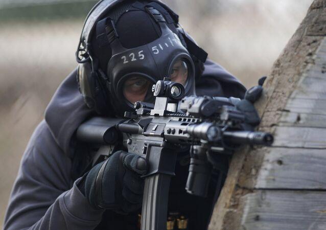 Person Holding Airsoft Gun