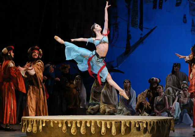 Maria Khoreva of the Mariinsky Ballet performs Le Corsaire in Washington, DC, April 9, 2019.