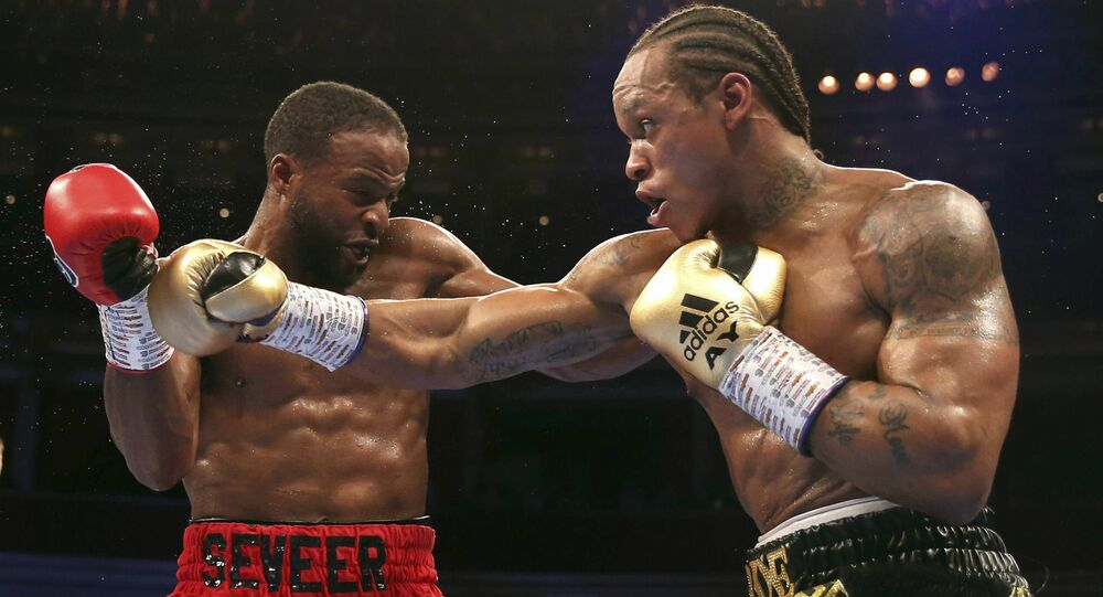 Anthony Yarde (right) knocked out Travis Reeves (left) in his most recent fight