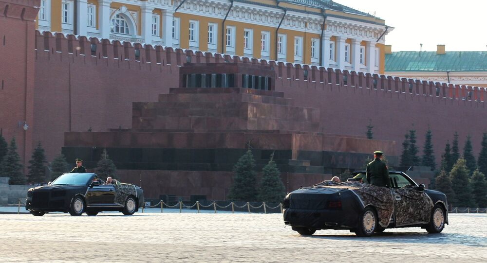 Aurus Cabriolet at the Red Square, Moscow