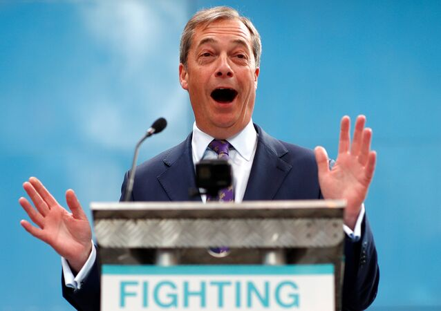 Nigel Farage speaks at the launch of the newly created 'Brexit Party' campaign for the European elections, in Coventry, Britain April 12, 2019