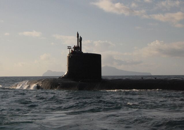 The Virginia-class fast attack submarine USS Virginia (SSN 774)