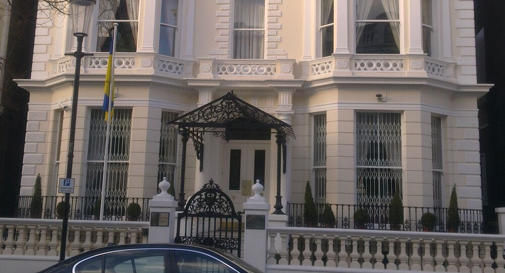 Ukrainian embassy in London (File photo).