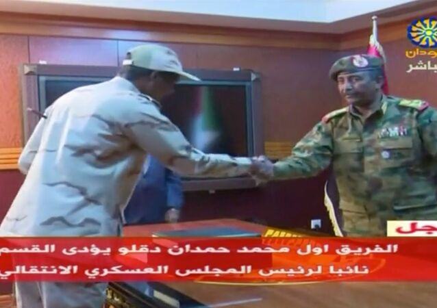 General Abdelfattah Mohamed Hamdan Dagalo is sworn-in as the deputy of the Sudanese transitional military council