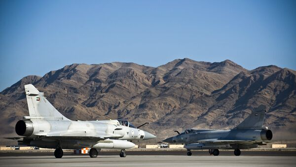 United Arab Emirates Air Force Dassault Mirage 2000-9s taxi to the active runway at Nellis AFB - Sputnik International