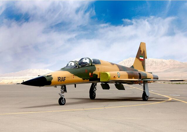 A handout picture released by Iran's Defence Ministry on August 21, 2018, shows the Kowsar domestic fighter jet, a fourth-generation fighter