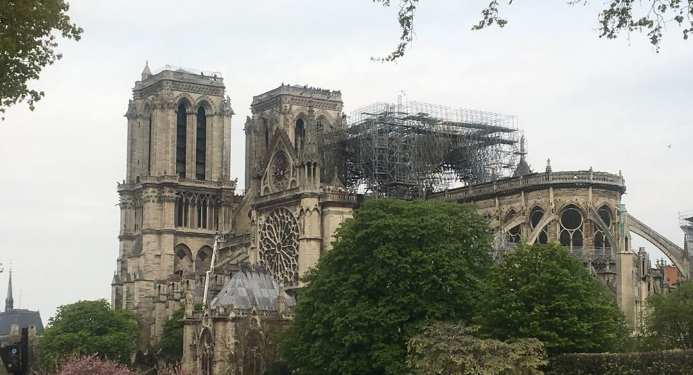 Notre Dame cathedral in Paris after the fire.
