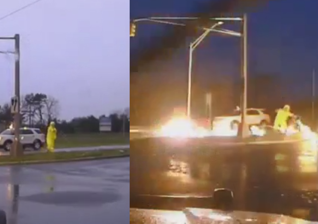 Shock and Horror: US Utility Worker Narrowly Escapes Electrocution
