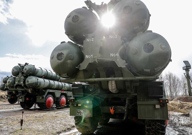 Russian S-400 Triumph missile systems. File photo