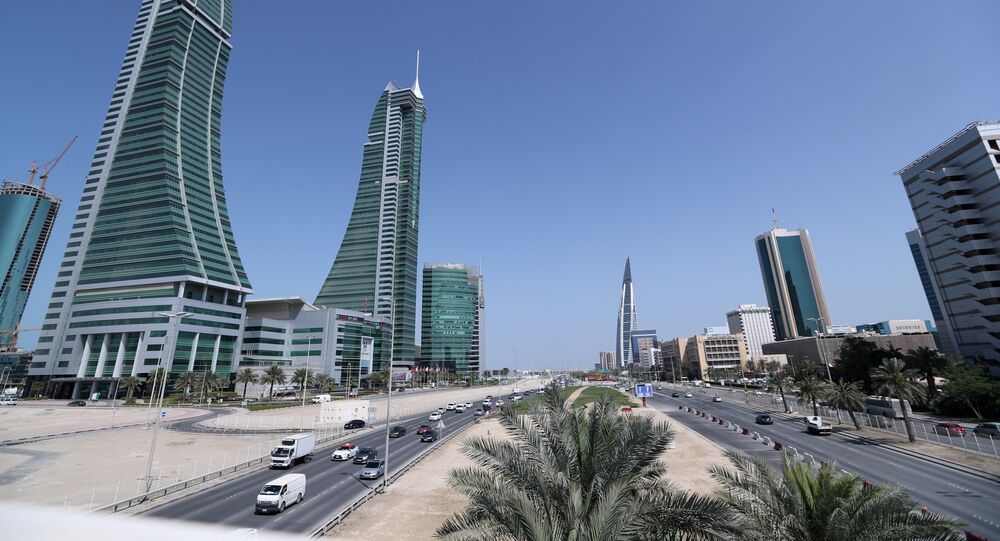 Bahrain Financial Harbour (L) and Bahrain World Trade Center are are seen in diplomatic area in Manama, Bahrain. File photo