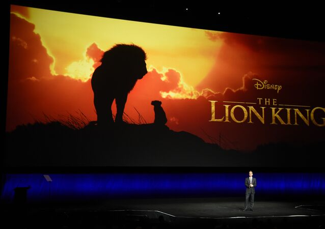 Sean Bailey, president of Walt Disney Studios Motion Picture Production, discusses the upcoming live-action film The Lion King during the Walt Disney Studios Motion Pictures presentation at CinemaCon 2019, the official convention of the National Association of Theatre Owners (NATO) at Caesars Palace, Wednesday, April 3, 2019, in Las Vegas.