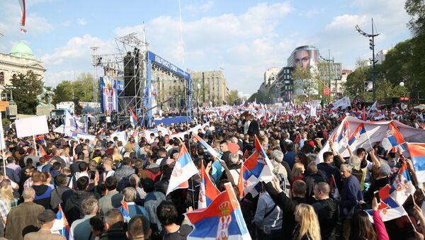 Future of Serbia rally in Belgrade - Sputnik International