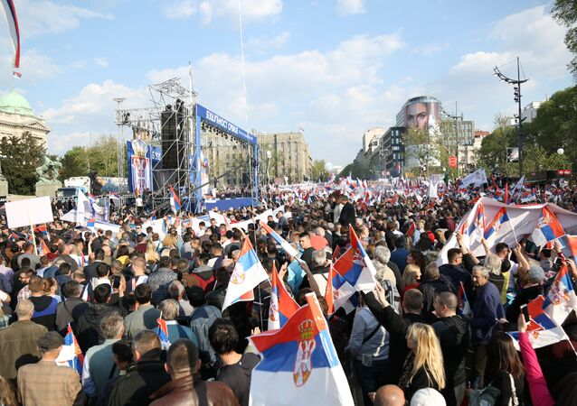 Future of Serbia rally in Belgrade
