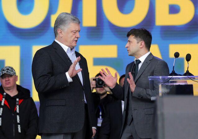 Dibates of Ukrainian presidential candidates.