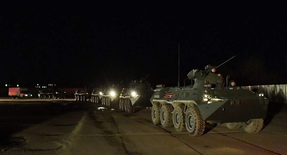 Military equipment deployed in Moscow to participate in 9 Victory Day Parade on 9 May