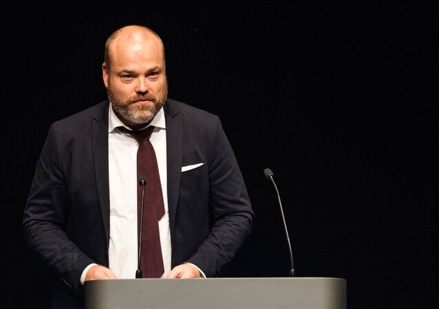 This picture taken on August 21, 2017 shows Bestseller CEO Anders Holch Povlsen during an event in Aarhus, Denmark