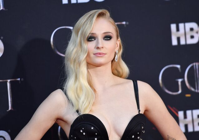 British actress Sophie Turner arrives for the Game of Thrones eighth and final season premiere at Radio City Music Hall on April 3, 2019 in New York city