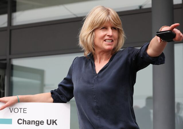 Rachel Johnson, candidate for the new pro-EU political party, Change UK poses after the launch of their European election campaign in Bristol on April 23, 2019