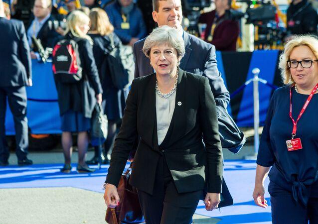 UK Prime Minister Theresa May (File photo).