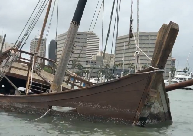 A replica of La Nina, one of three ships Italian explorer Christopher Columbus used to sail to the Americas, sunk in the early morning hours this week in Texas' Corpus Christi.