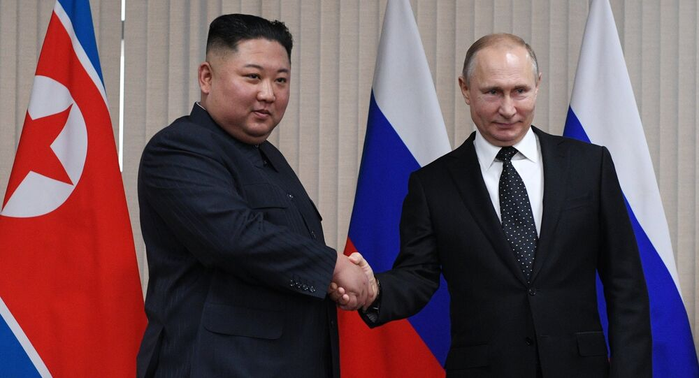 The Russian President V. Putin met the leader of the DPRK Kim Jong-un