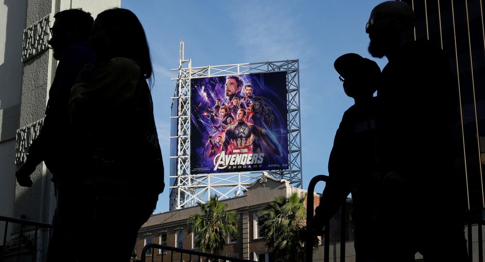 Avengers fans arrive at the TCL Chinese Theatre in Hollywood to attend the opening screening of Avengers: Endgame in Los Angeles, California, U.S., April 25, 2019