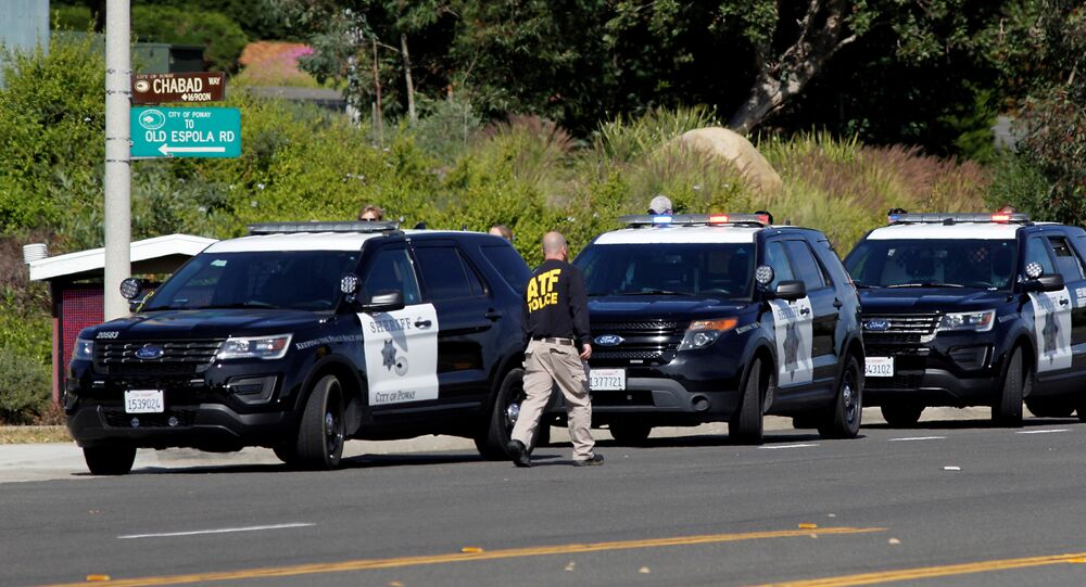 Police Secure the Scene of a Shooting Incident at the Congregation Chabad Synagogue in Poway