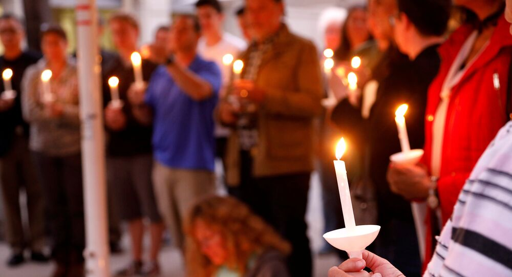 A candlelight vigil is held at Rancho Bernardo Community Presbyterian Church for victims of a shooting incident at the Congregation Chabad synagogue in Poway, north of San Diego, California, U.S. April 27, 2019