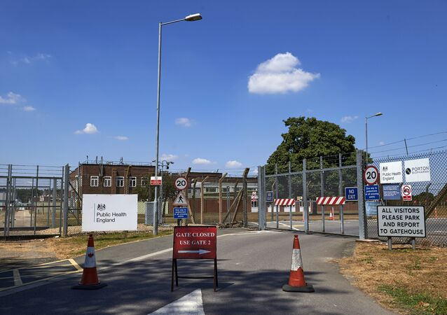 An entrance to Porton Down, the science park housing the Ministry of Defence's (MOD) Defence Science and Technology Laboratory