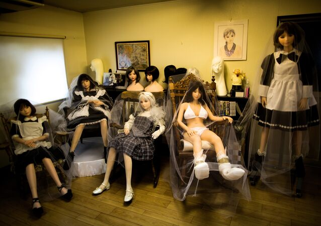 In this picture taken on June 13, 2017, silicone sex dolls are seen at a doll factory in Saitama