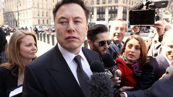 Tesla CEO Elon Musk arrives at Manhattan federal court for a hearing on his fraud settlement with the Securities and Exchange Commission (SEC) in New York City, U.S. April 4, 2019 - Sputnik International