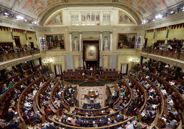 Lower House of the Spanish Parliament in Madrid (File)