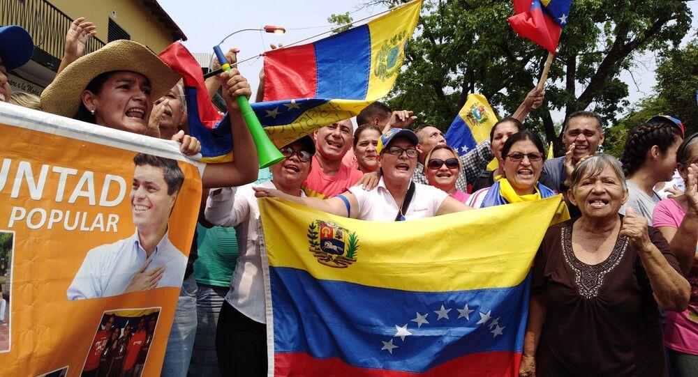 People protest in Venezuela