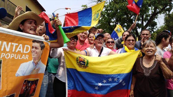 People protest in Venezuela - Sputnik International