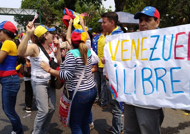People protest in Venezuela