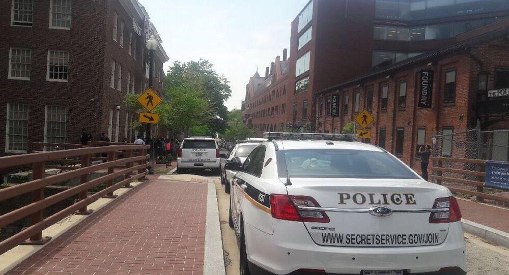 Situation near Venezuelan Embassy in Washington