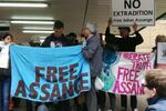 Assange Supporters Gather Outside London's Southwark Crown Court