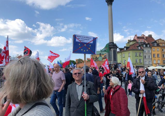 Anti-EU Protest in Warsaw