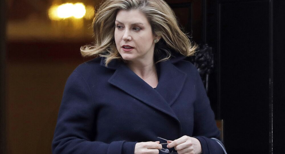 In this file photo dated Tuesday, Jan. 29, 2019, Government minister Penny Mordaunt leaves after a Cabinet meeting at Downing Street in London. The international development secretary, Mordaunt has been appointed to replace Gavin Williamson who was sacked Wednesday May 2, 2019, as U.K. defense chief.